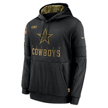 Dallas Cowboys Nike Mens Team Logo Salute to Service Therma Hoodie