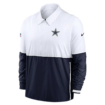 Dallas Cowboys Nike Mens Team Logo Lightweight Long Sleeve Coach Jacket