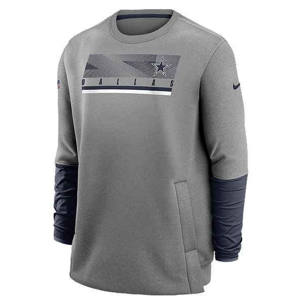 Dallas Cowboys Nike Mens Team Logo Therma Coach Crew Sweatshirt