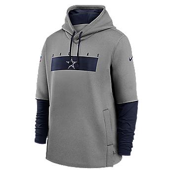 Dallas Cowboys Nike Mens Team Logo Therma Crew Coach Fleece Hoodie