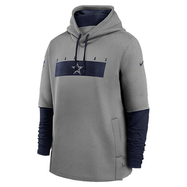Dallas Cowboys Nike Mens Team Logo Therma Crew Coach Fleece Hoodie