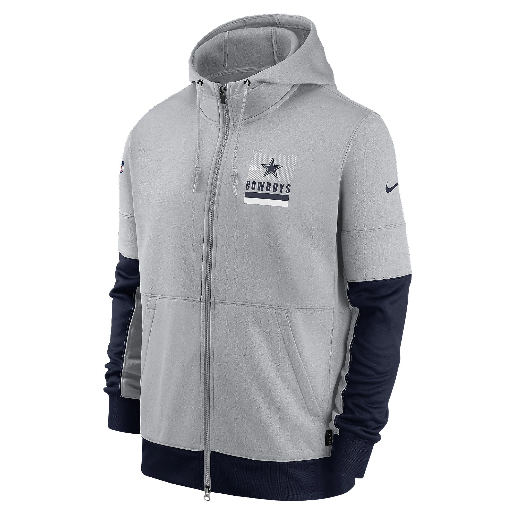 Dallas Cowboys Nike Mens Lockup Therma Fleece Full-Zip Hoodie
