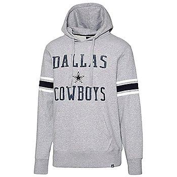 Dallas Cowboys '47 Brand Mens Double Block Sleeve Stripe Hoodie