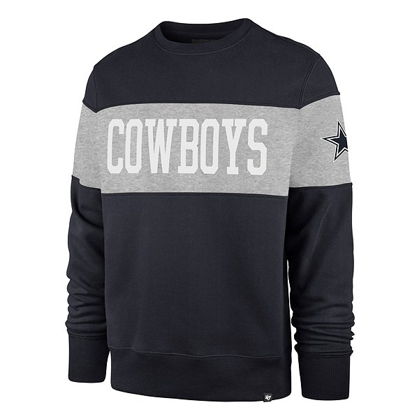 Dallas Cowboys '47 Brand Mens Navy Interstate Crew Sweatshirt