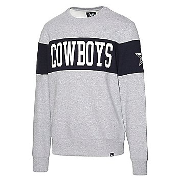 Dallas Cowboys '47 Brand Mens Grey Interstate Crew Sweatshirt