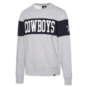 Dallas Cowboys '47 Brand Mens Grey Interstate Crew Sweatshirt