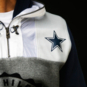 Dallas Cowboys Tommy Hilfiger Mens Pinnacle Double Hood Pullover Hoodie