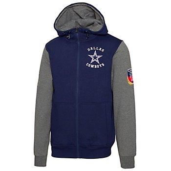 Dallas Cowboys Tommy Hilfiger Mens Fleece Color Block Full Zip Hoodie