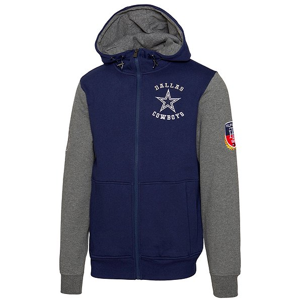 Dallas Cowboys Tommy Hilfiger Mens Fleece Color Block Full Zip Hoodie