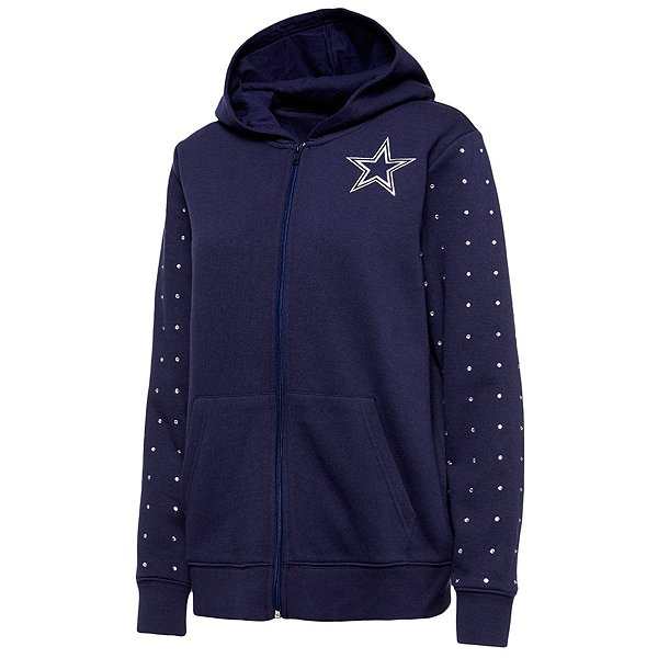 Dallas Cowboys Womens Beauvoir Full Zip Fleece Hoodie