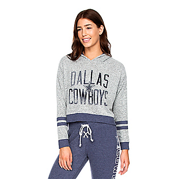 Dallas Cowboys Womens Delilah Cropped Pullover Hoodie