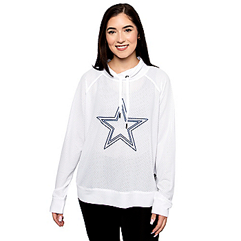 Dallas Cowboys DKNY Sport Womens White Gabby Pullover