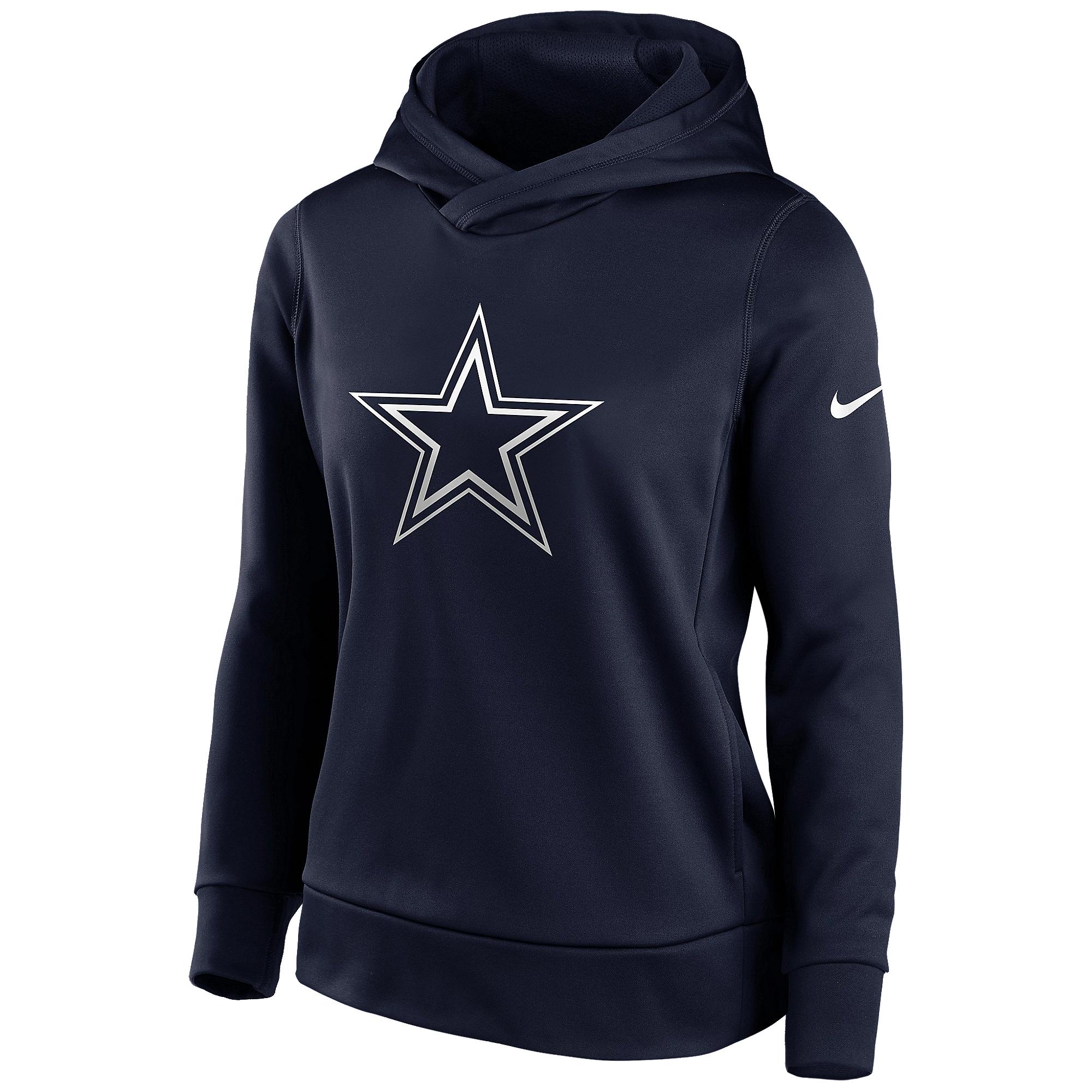 Dallas Cowboys Nike Womens Logo Therma Pullover Hoodie