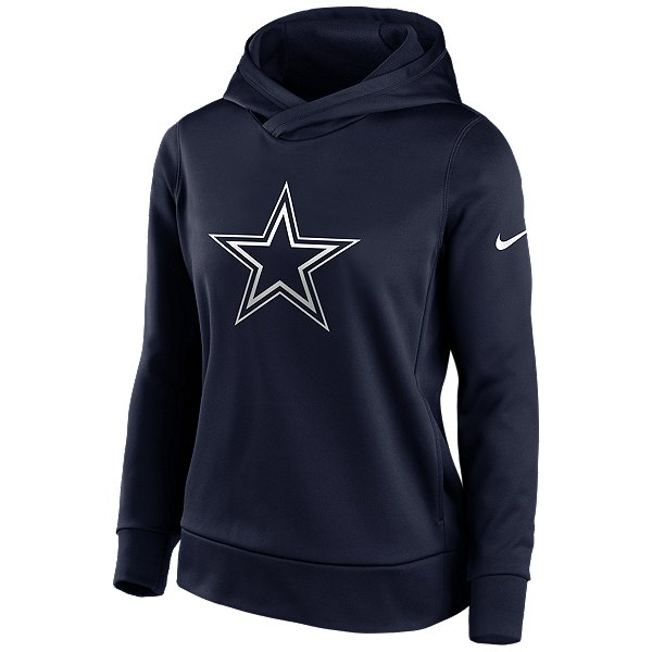 Dallas Cowboys Nike Womens Logo Therma Pullover Hoodie