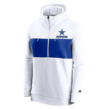Dallas Cowboys Nike Womens Mascot Logo Historic Half-Zip Fleece Pullover Hoodie
