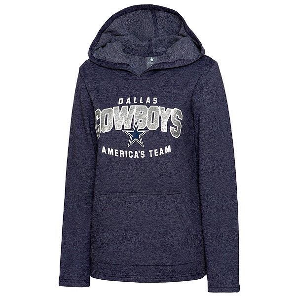 Dallas Cowboys Womens Alia Open Hem Fleece Pullover Hoodie