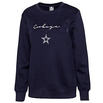 Dallas Cowboys Womens Christine Embossed Crew Sweatshirt