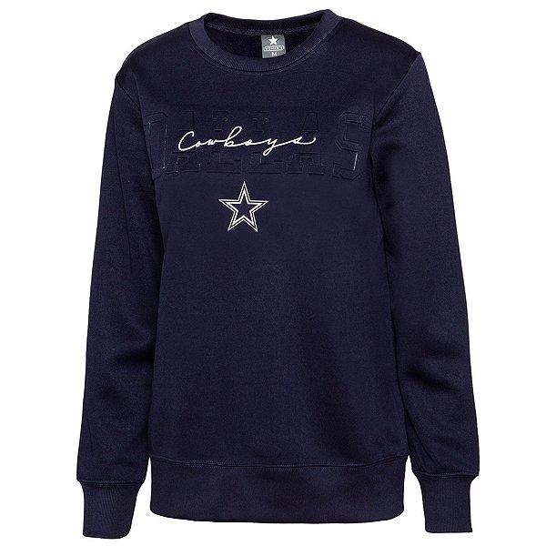 Dallas Cowboys Womens Christine Embossed Crew Sweatshirt