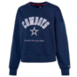 Dallas Cowboys Tommy Hilfiger Womens Cropped Crew Neck Pullover Sweatshirt