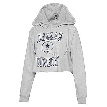 Dallas Cowboys Team LJ Womens Cropped Hoodie