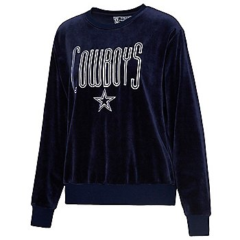Dallas Cowboys Team LJ Womens Velour Sweatshirt