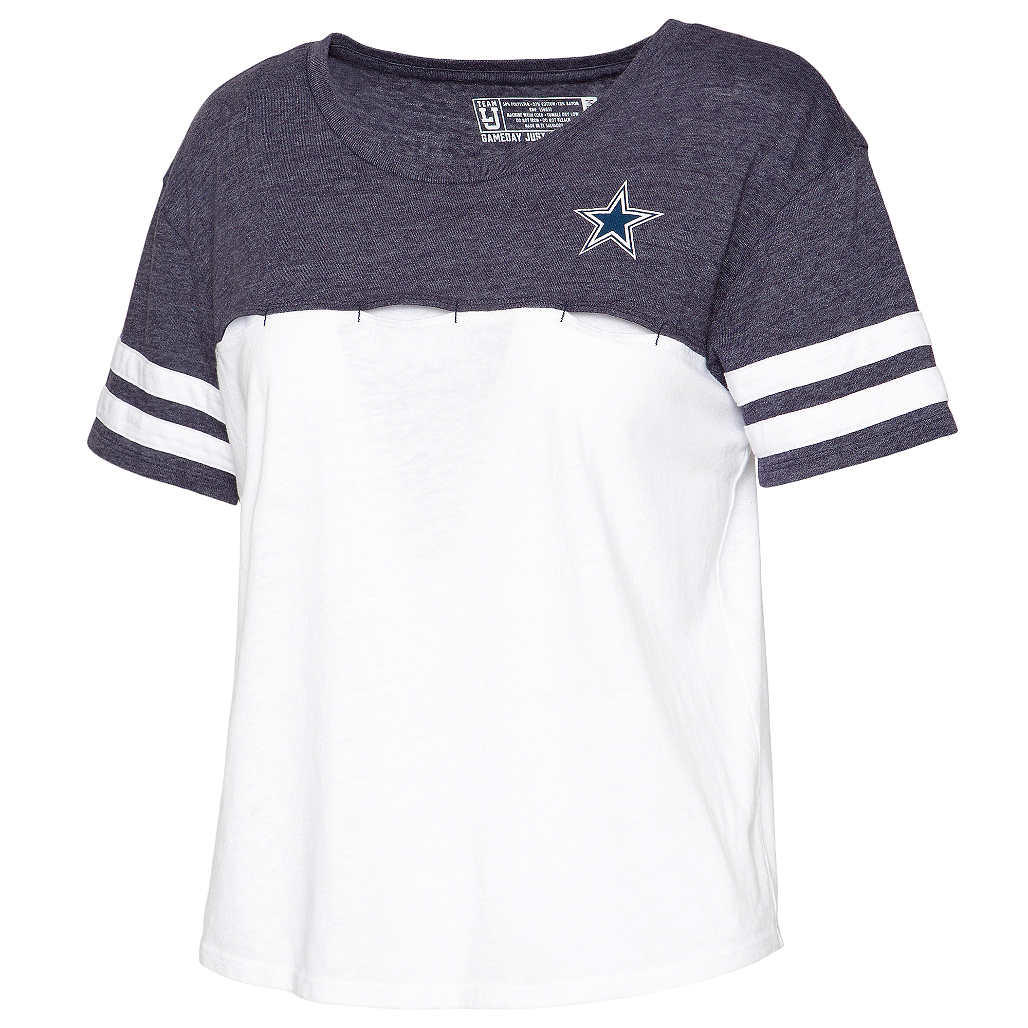 Dallas Cowboys Team LJ Womens Football Crop Top