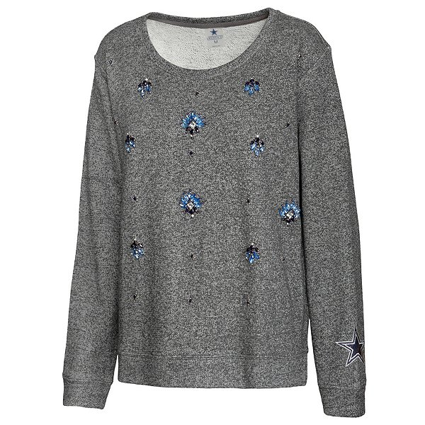 Dallas Cowboys Womens Amal French Terry Embellished Sweater