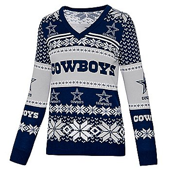 Dallas Cowboys Womens V-Neck Ugly Sweater