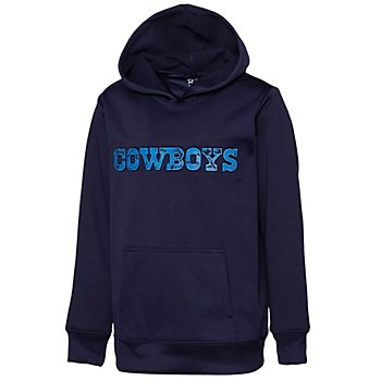Dallas Cowboys Youth Chisholm Embossed Hoodie