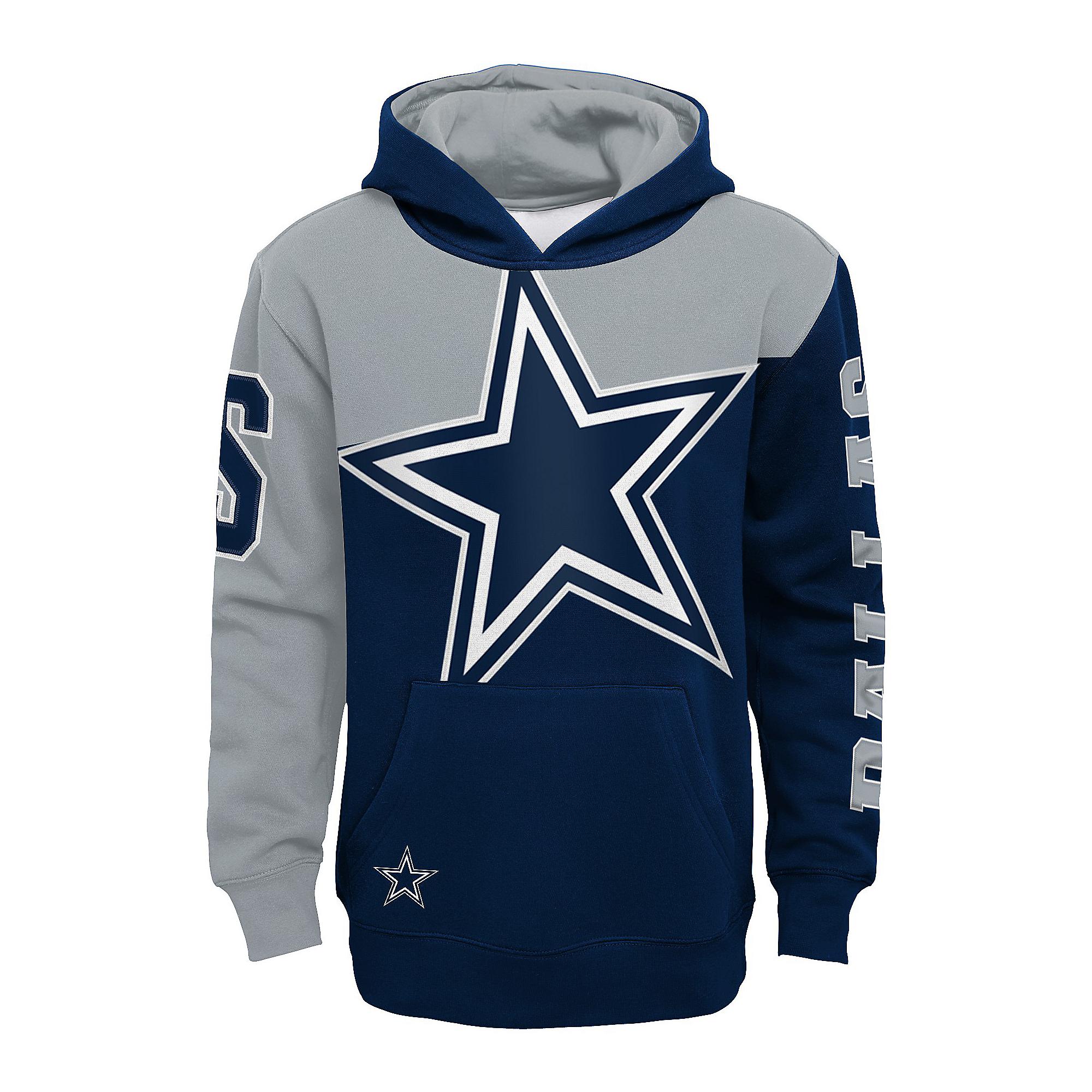 Dallas Cowboys Kids Quarter Back Sneak Sublimated Fleece Hoodie