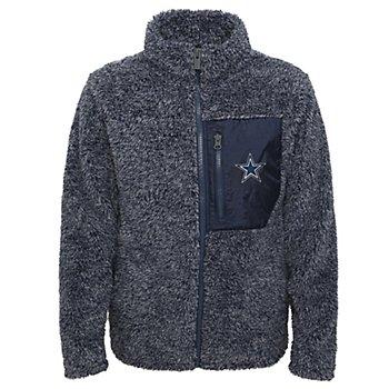 Dallas Cowboys Juniors Intercepting Teddy Full Zip Fleece Jacket