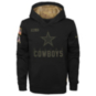 Dallas Cowboys Nike Youth Team Logo Salute to Service Therma Hoodie