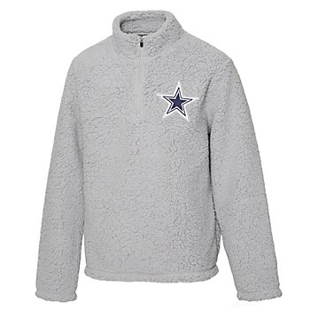Dallas Cowboys Girls Corinne Sherpa Quarter-Zip Pullover