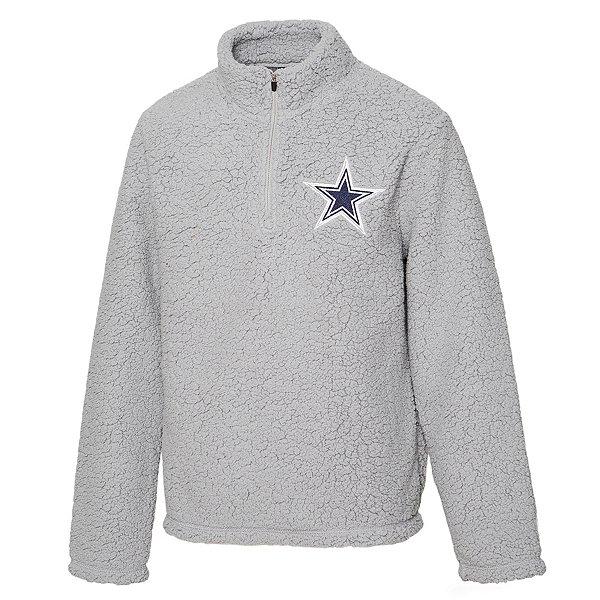 Dallas Cowboys Girls Corinne Sherpa Quarter-Zip Pullover