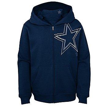 Dallas Cowboys Youth Defender Full Zip Hoodie
