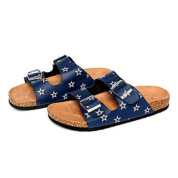 Dallas Cowboys Womens Mini Print Sandals