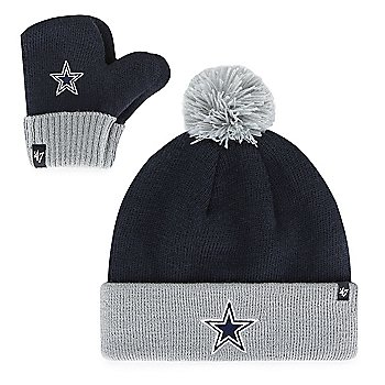 Dallas Cowboys '47 Brand Toddler Bam Bam Knit Hat and Mitten Set