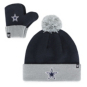 Dallas Cowboys '47 Brand Infant Bam Bam Knit Hat and Mitten Set