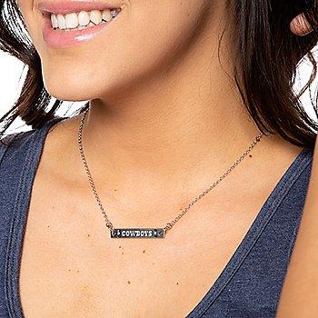 Dallas Cowboys Silver-Tone Adjustable Bar Necklace