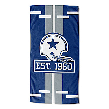 Dallas Cowboys 1960 30 x 60 Logo Lateral Beach Towel