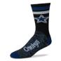 Dallas Cowboys Black Script Socks