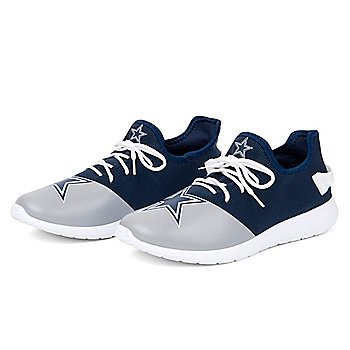 Dallas Cowboys Mens Knit Colorblock Big Logo Sneaker