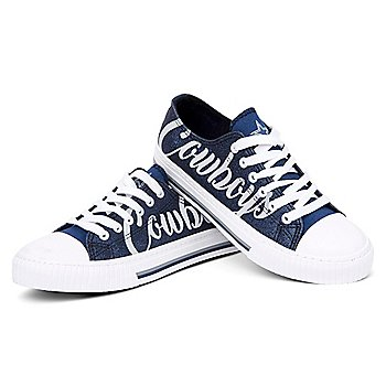 Dallas Cowboys Womens Color Glitter Canvas Sneaker