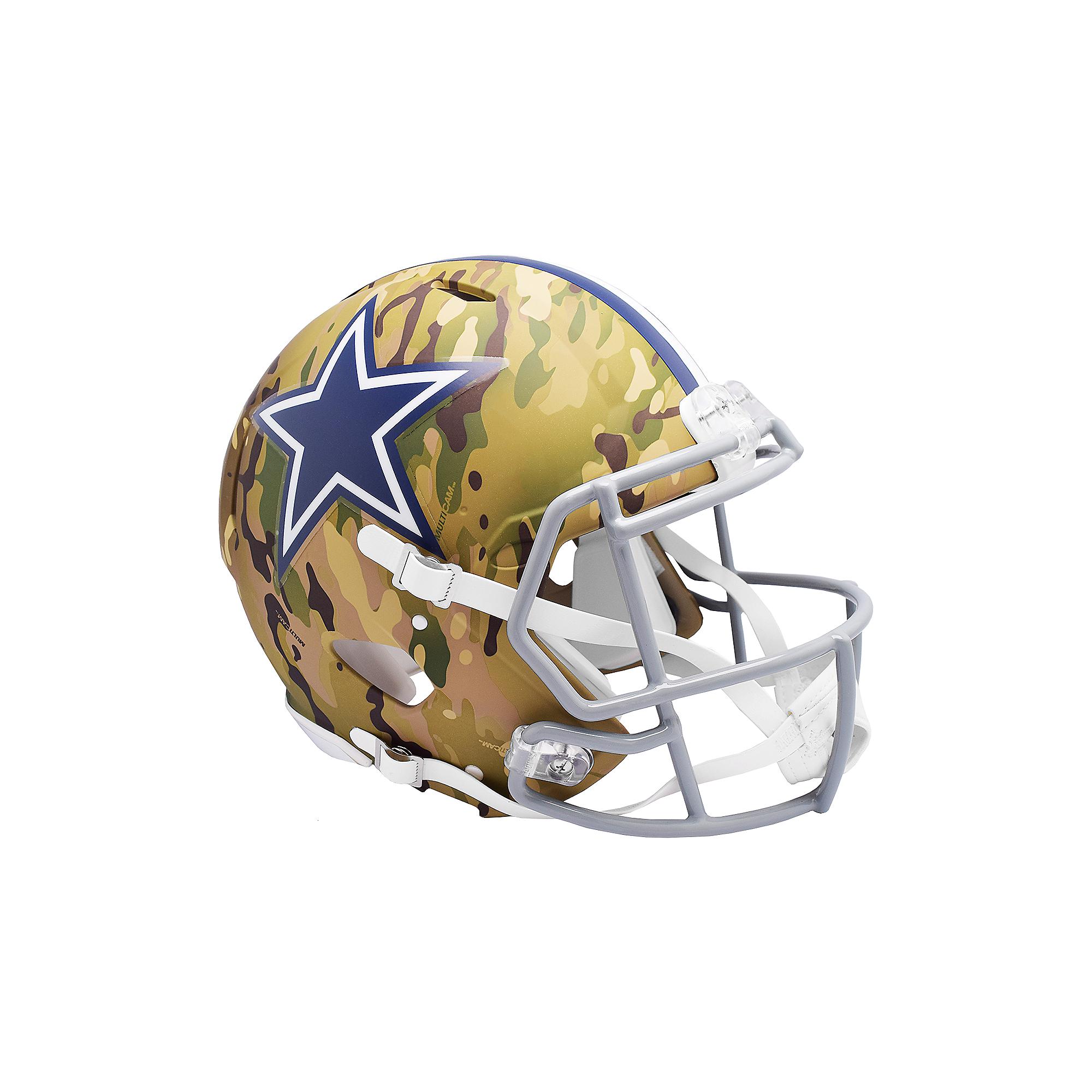 Dallas Cowboys Riddell Camo Speed Authentic Helmet