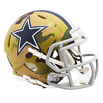 Dallas Cowboys Riddell Camo Speed Mini Helmet