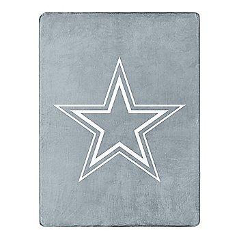 Dallas Cowboys Crisp Silver Silk Touch Throw Blanket