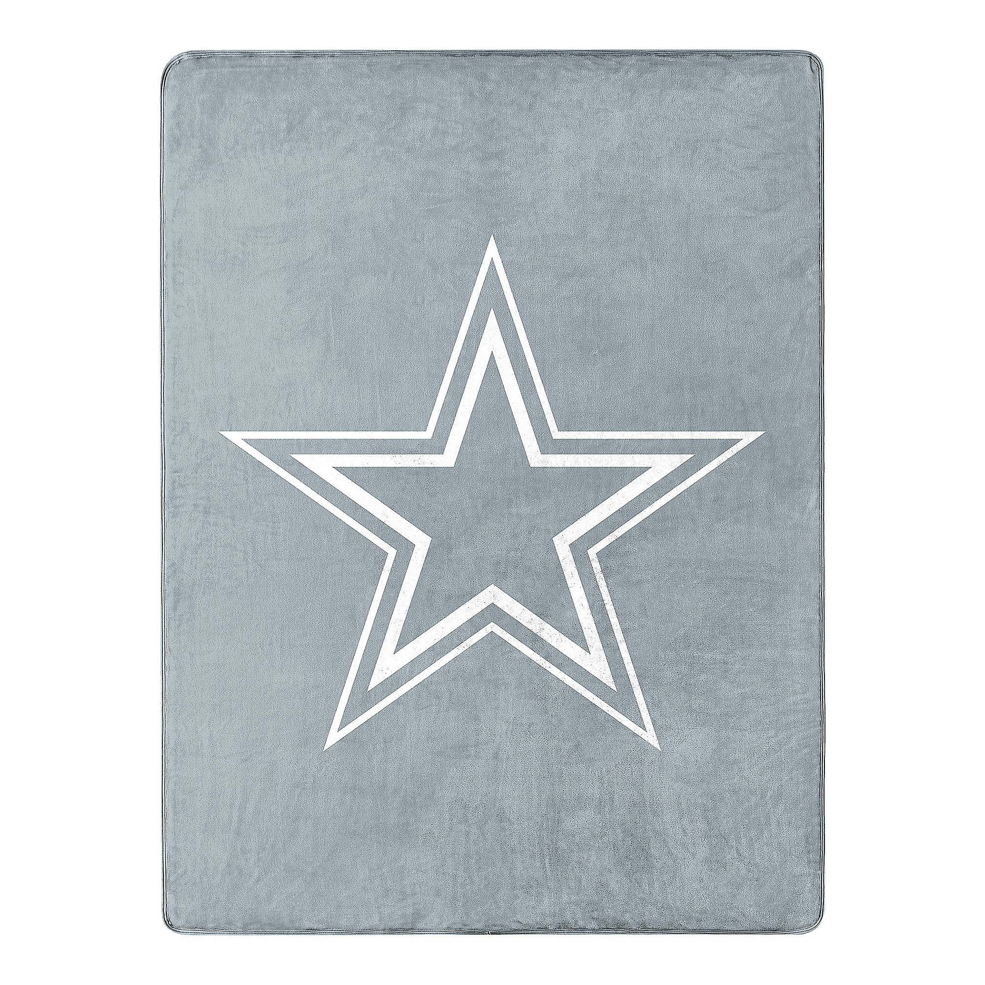 Dallas Cowboys Crisp Silver Silk Touch Throw Blanket