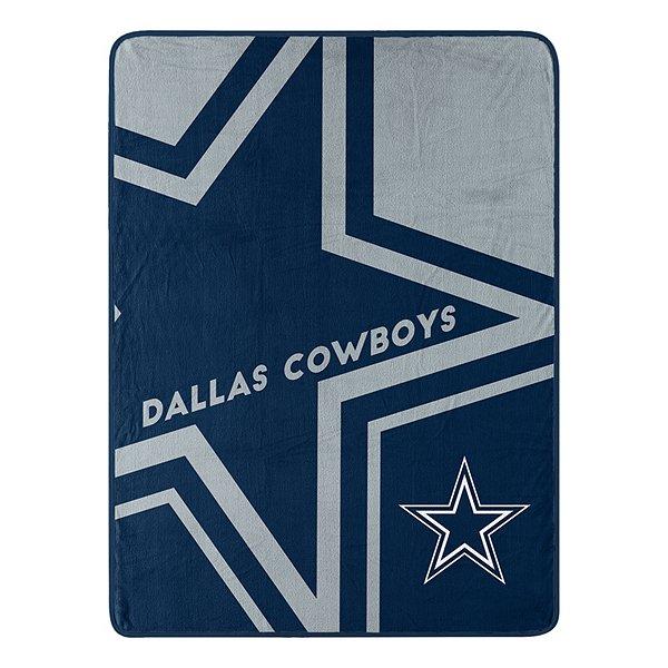 Dallas Cowboys Color Block Micro Rachel Throw Blanket