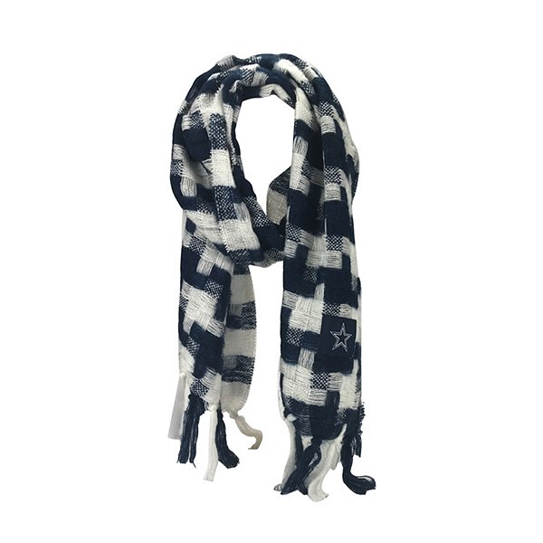 Dallas Cowboys Womens Plaid Woven Scarf