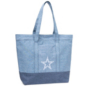 Dallas Cowboys Chambray Repeat Mural Tote